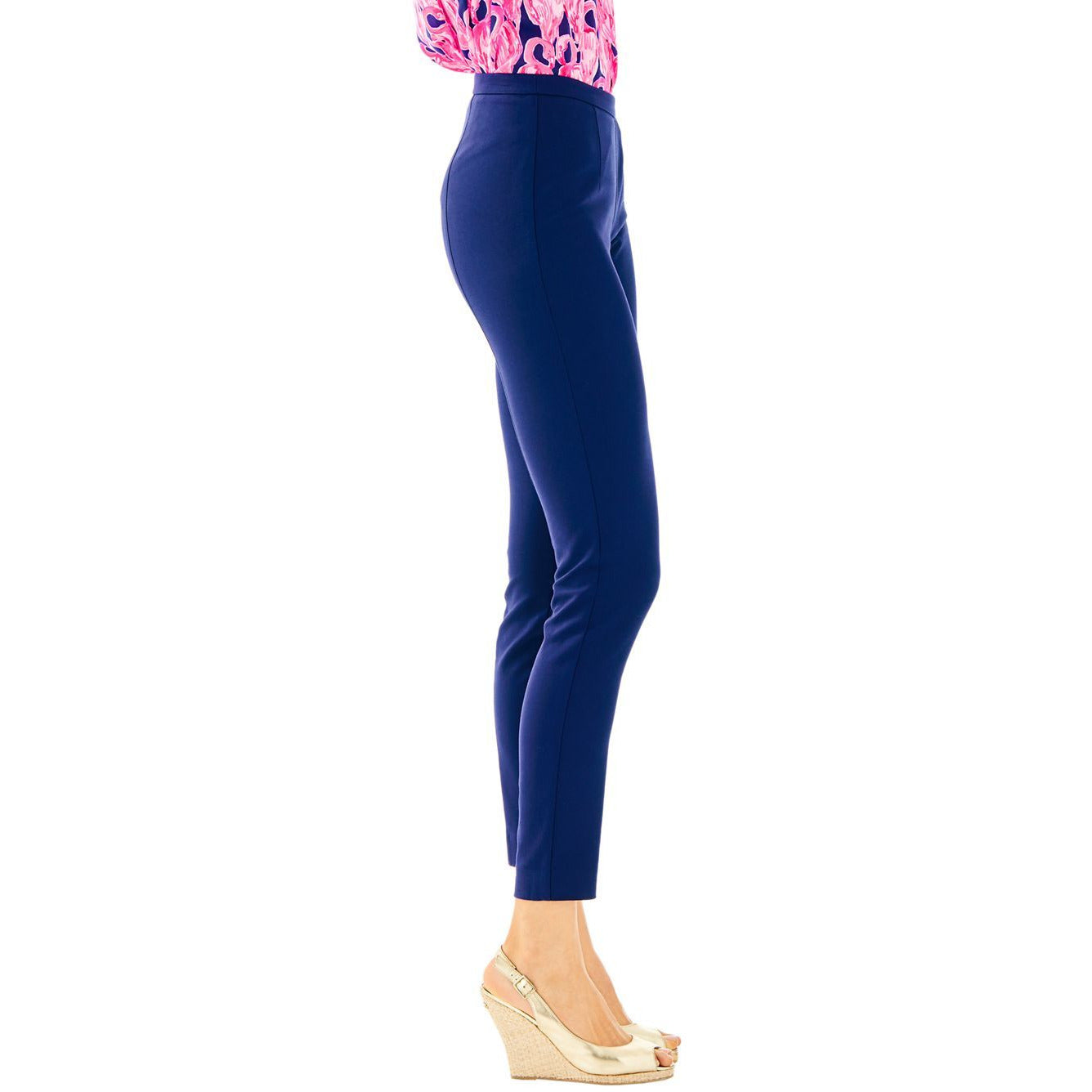"Lilly Pulitzer 30"" Alessia Stretch Dinner Pant Midnight Navy"