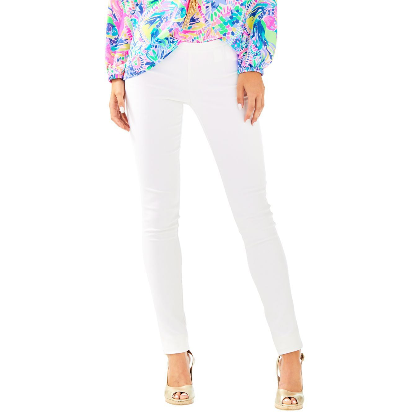 "Lilly Pulitzer 30"" Alessia Stretch Dinner Pant Resort White"