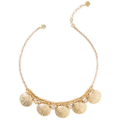 Lilly Pulitzer Sea Fan Necklace Gold Metallic