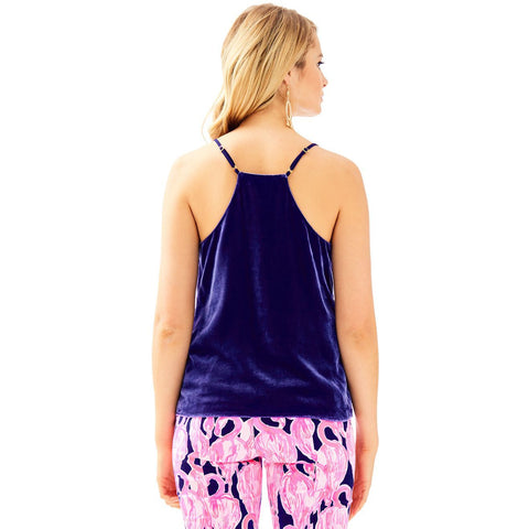 Lilly Pulitzer Dusk Racerback Velvet Top True Navy