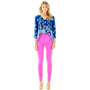 "Lilly Pulitzer 30"" Chantal Stretch Dinner Pant Raz Berry"