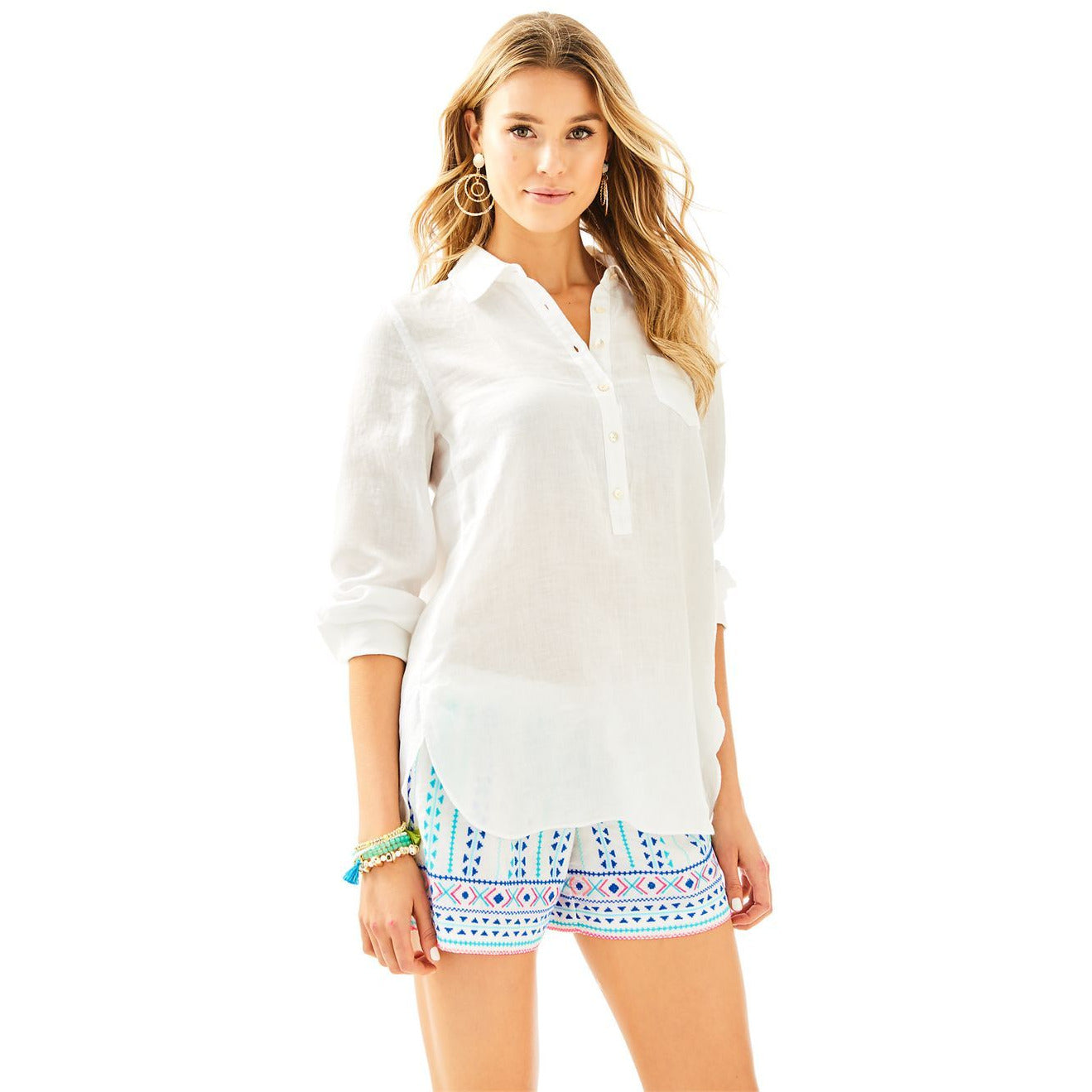 Lilly Pulitzer Deanna Popover Resort White