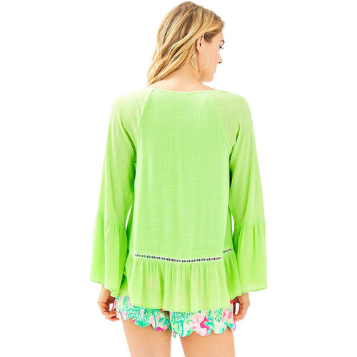 Lilly Pulitzer Amisa Top Mermaid Green