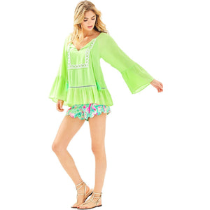 Load image into Gallery viewer, Lilly Pulitzer Amisa Top Mermaid Green