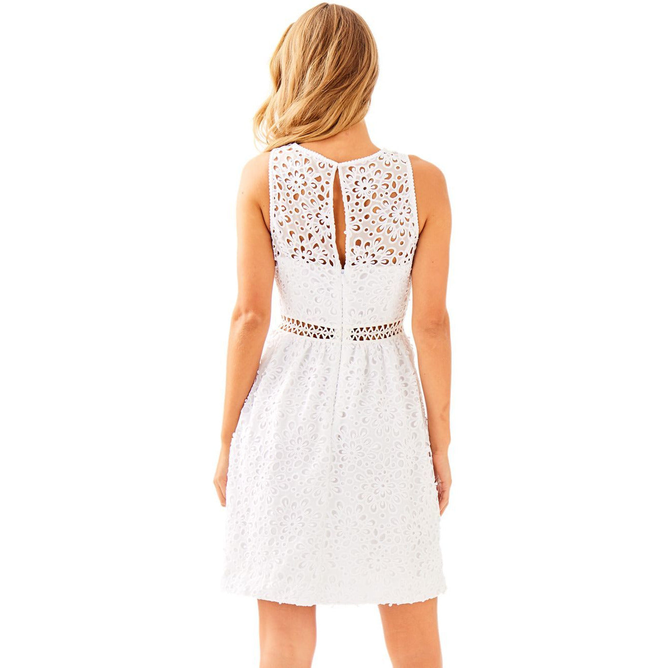 Lilly Pulitzer Alivia Dress Resort White Sea Spray Eyelet