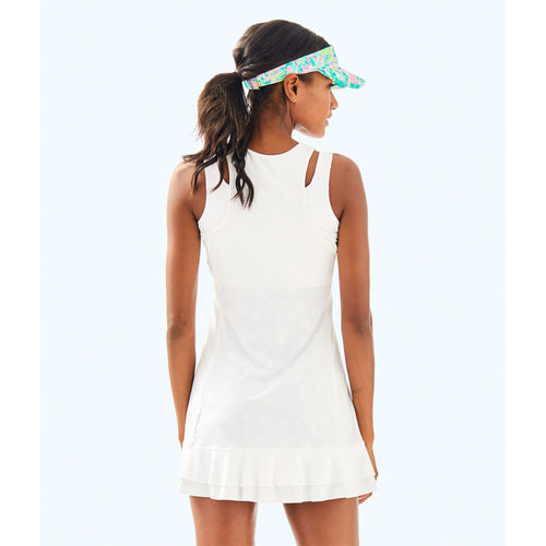Lilly Pulitzer UPF 50+ Luxletic Delphina Tennis Dress Resort White Perfect Match Jacquard