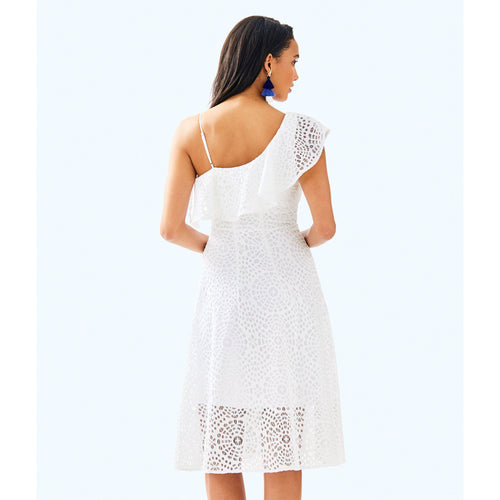 Lilly Pulitzer Callisto Dress Resort White Sea Urchin Terry Lace
