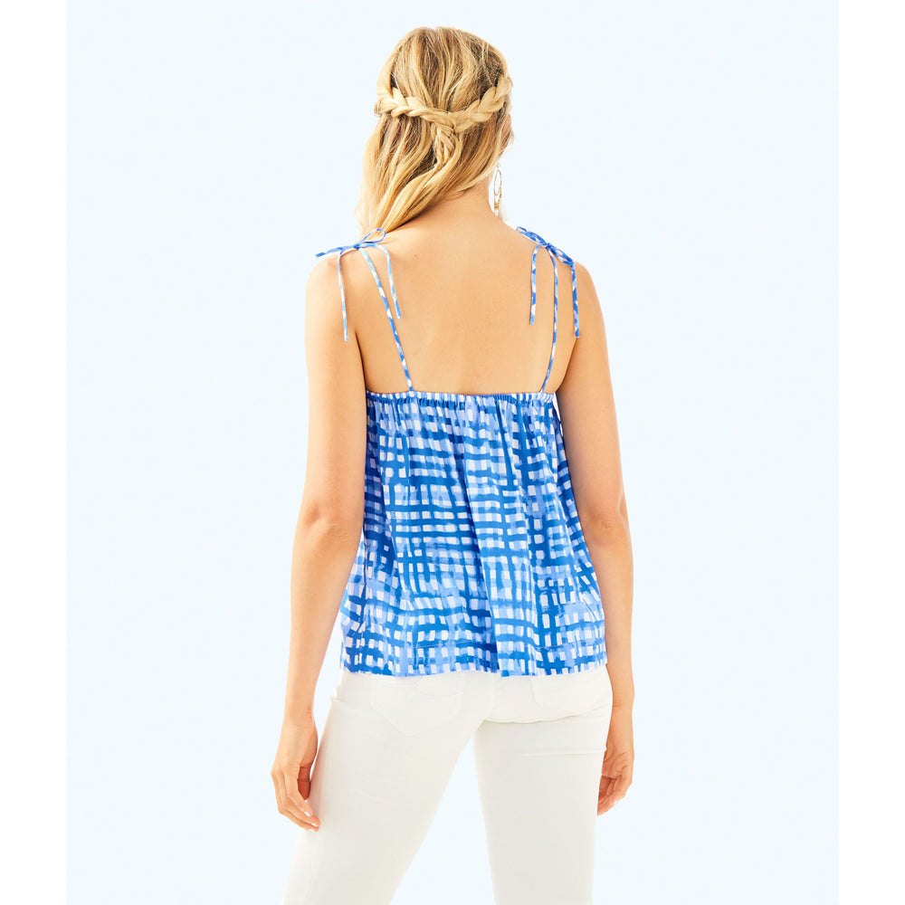 Load image into Gallery viewer, Lilly Pulitzer Silvana Top Bennet Blue Feelin Beachy