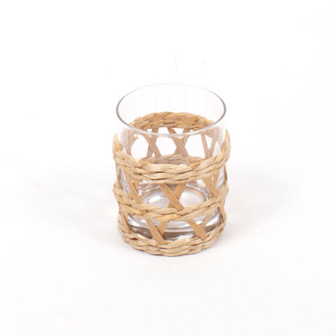 Newport Rattan Wrapped Glass 12oz