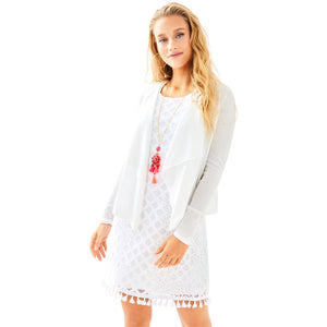 Lilly Pulitzer Maleta Cardigan Resort White