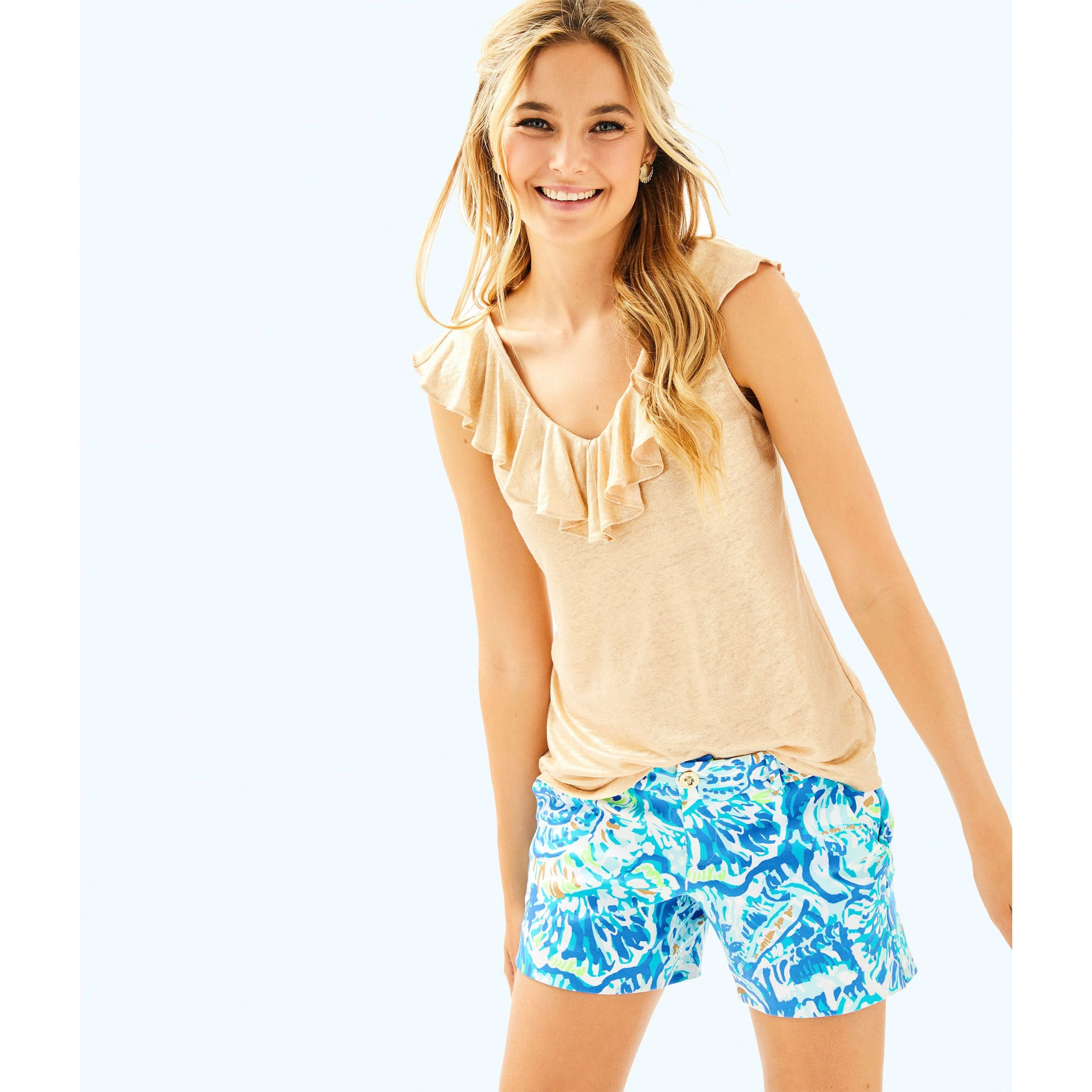 Lilly Pulitzer Alessa Top Sand Dune