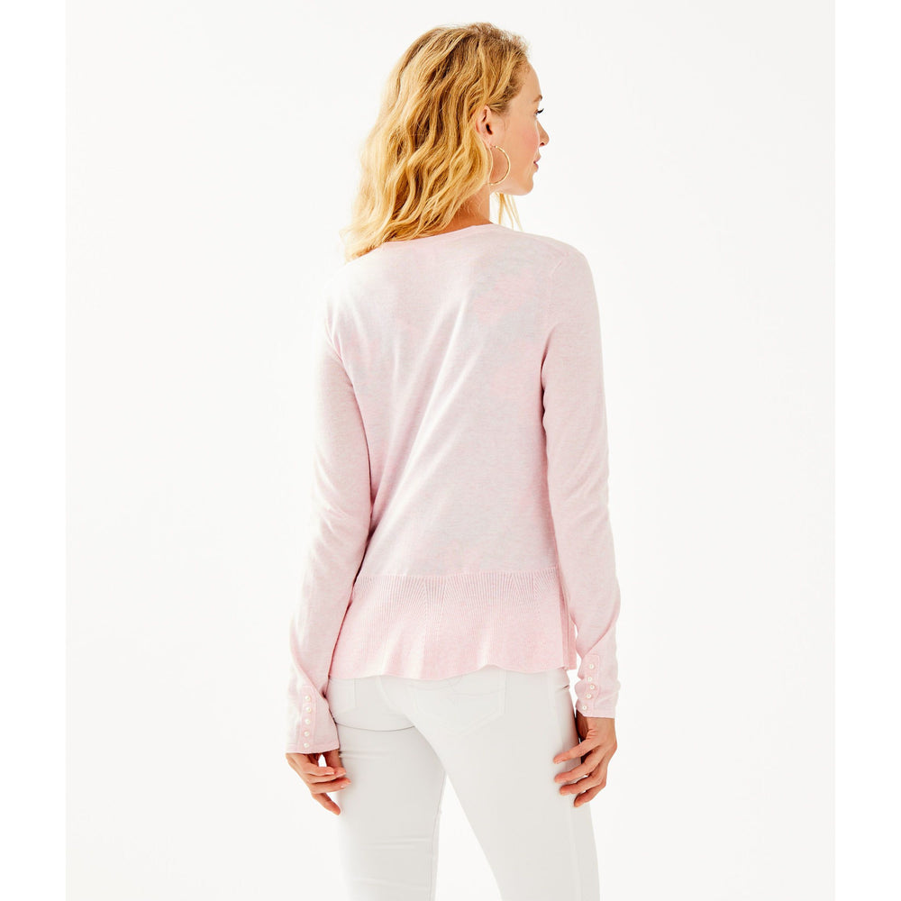 Lilly Pulitzer Clarissa Cardigan Heathered Paradise Pink