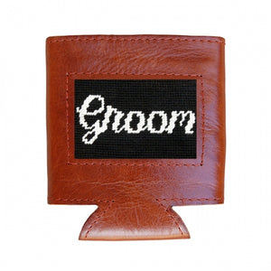 Load image into Gallery viewer, Smathers & Branson Groom Needlepoint Drink Hugger