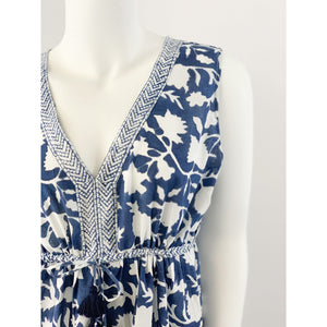Load image into Gallery viewer, La Plage Emily Maxi Dress Negative Navy Blue Floral Print