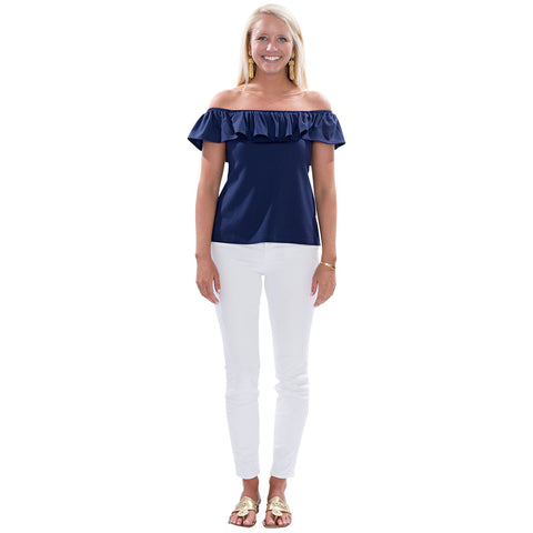 Sailor Sailor Shoreline Top Solid Navy