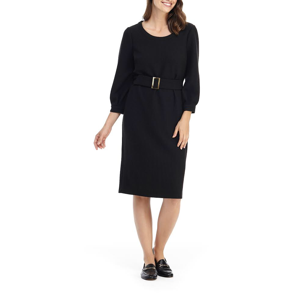 Gal Meets Glam Long Sleeve Tube Dress Black