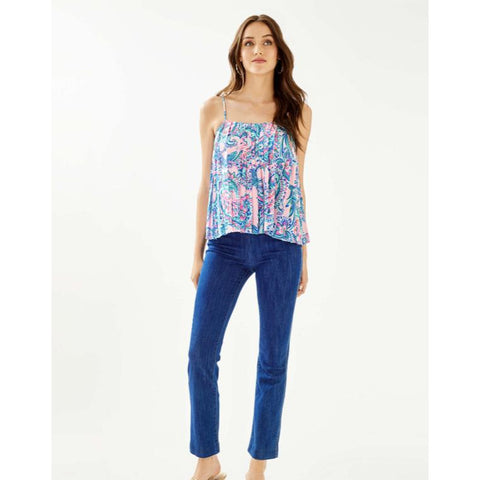 "Lilly Pulitzer 28"" Ocean Cay High Rise Crop Flare Jean"