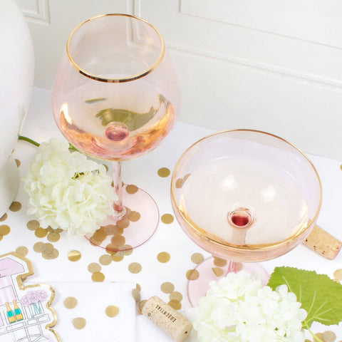 Veuve Champagne Pink Coupe Glass