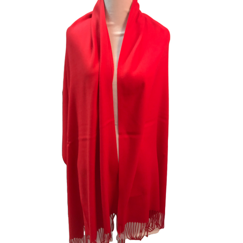 Seattle Silver Red Cashmere Shawl