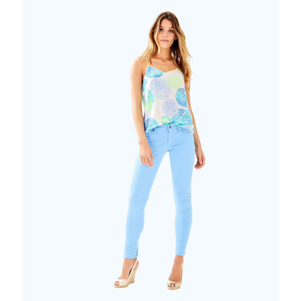 "Lilly Pulitzer 31"" Worth Skinny Jean Sateen Chambray Tint"