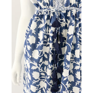La Plage Emily Maxi Dress Negative Navy Blue Floral Print
