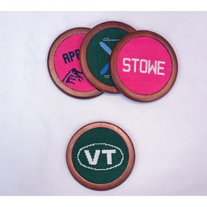 Load image into Gallery viewer, Smathers & Branson Custom Vermont Coaster Set Hunter Green