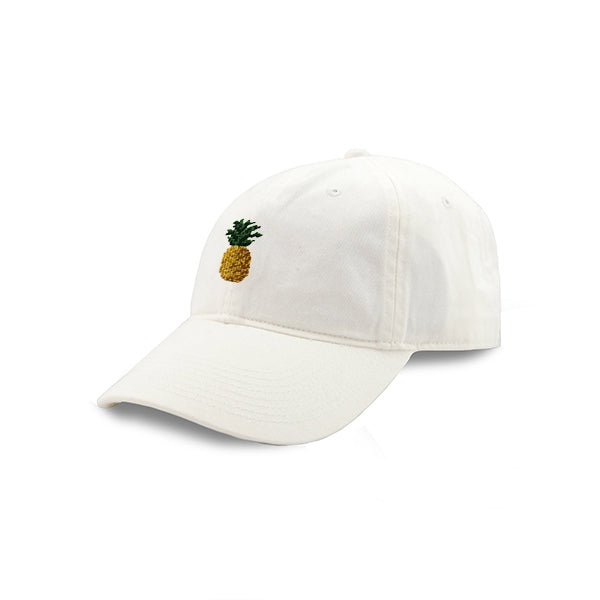 Load image into Gallery viewer, Smathers & Branson Pineapple Needlepoint Hat (White)