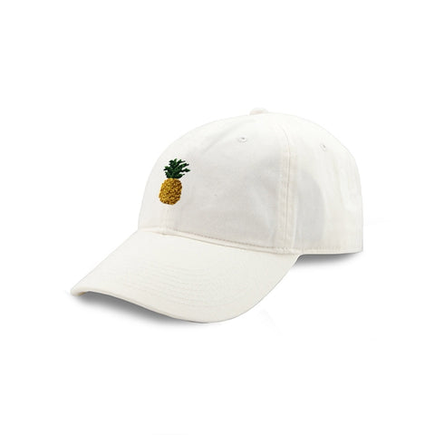 Smathers & Branson Pineapple Needlepoint Hat (White)