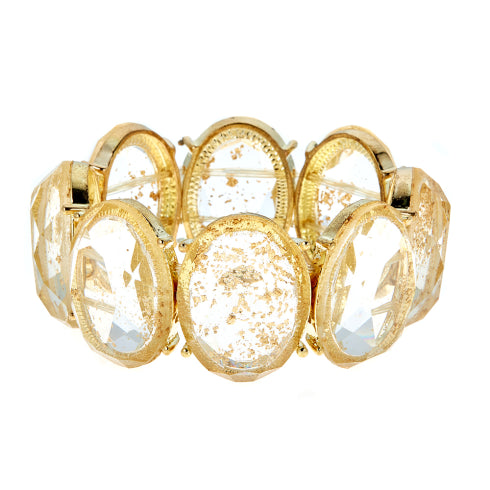 Load image into Gallery viewer, Alexandria Stretchy Bracelet Gold Sparkle