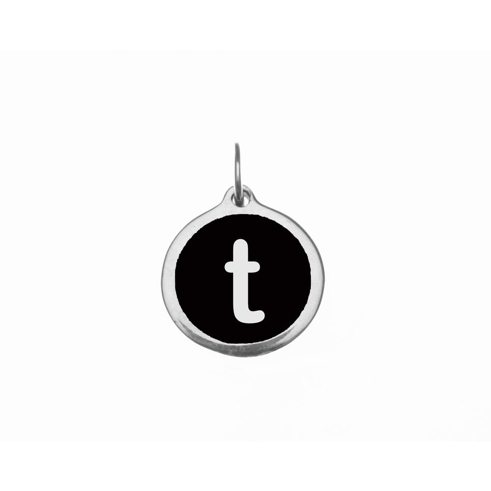 "Load image into Gallery viewer, Small Black ""t"" Charm"