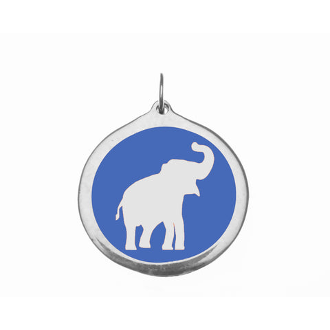 Large Blue Elephant Charm