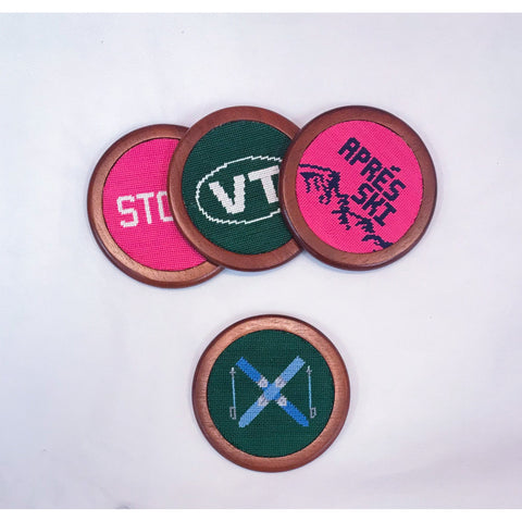Smathers & Branson Custom Vermont Coaster Set Hunter Green
