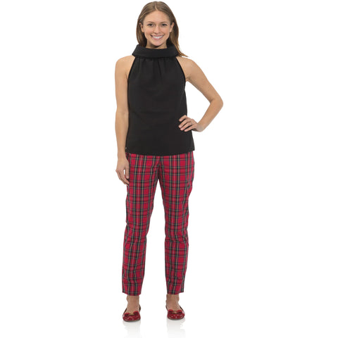 Sail To Sable Cotton Plaid Pant Red Plaid Multi