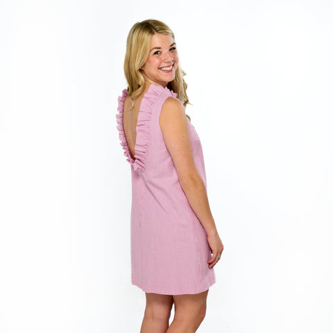 Just Madras Olivia Dress Pink Seersucker