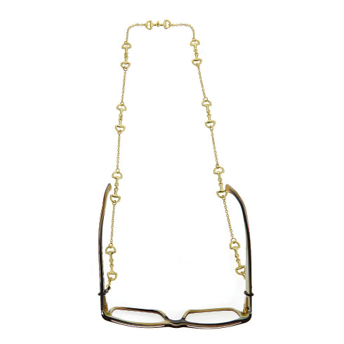 Horsebit Eyeglass Chain Shiny Gold