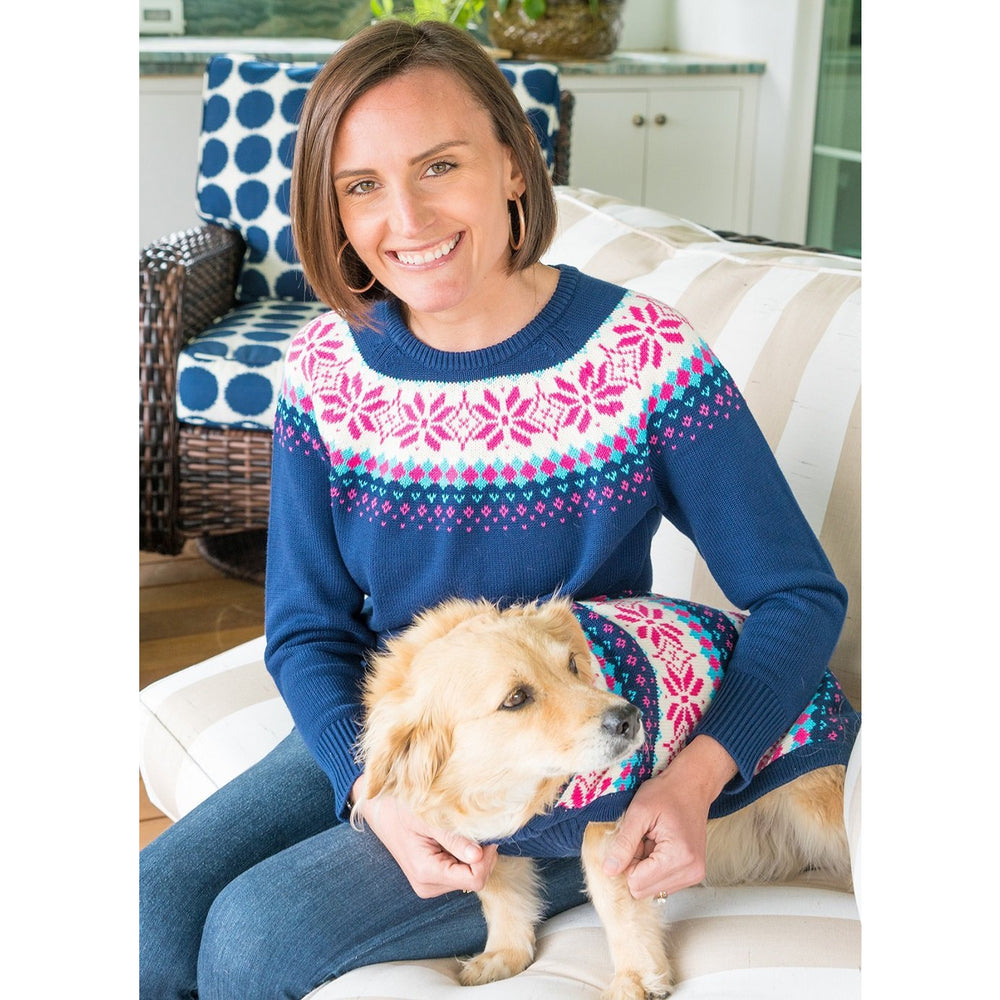 Haley and the Hound Dog Fair Isle Sweater