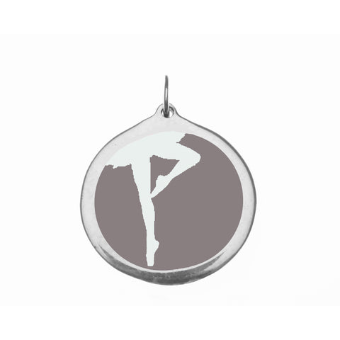 Large Grey Ballerina Charm