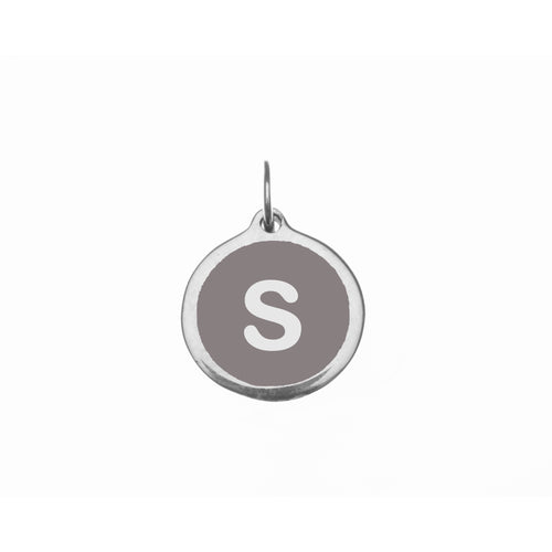 "Small Grey ""s"" Charm"