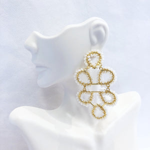 Load image into Gallery viewer, Lisi Lerch Ginger Earring Czech White