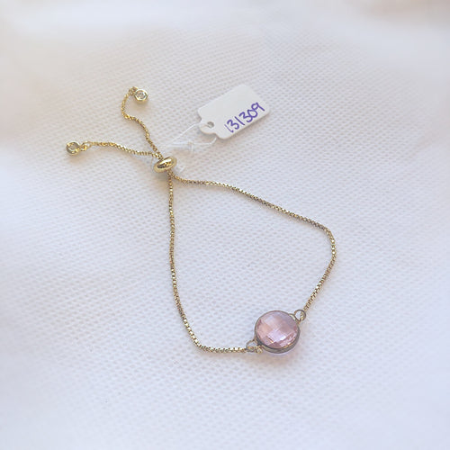 MVF Adjustable Bracelet Mini Gem Pink
