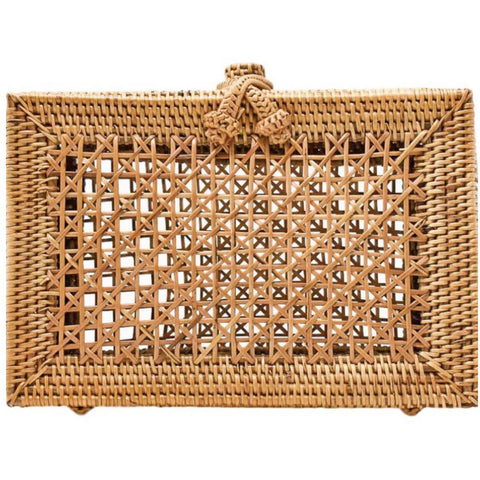 Palm Springs Wicker Clutch