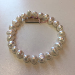 MVF Pearl Stretch Bracelet White