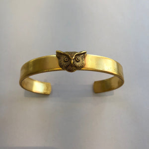 Small Gold Cuff Owl