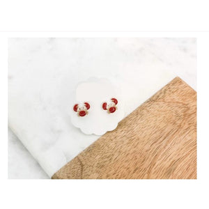 Load image into Gallery viewer, Crab Enamel Stud Earrings