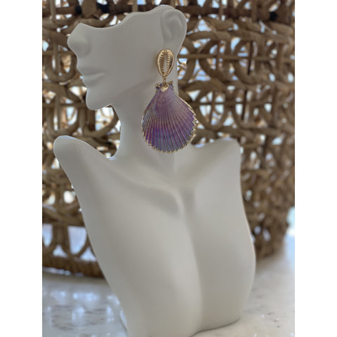 Iridescent Shell Post Earring