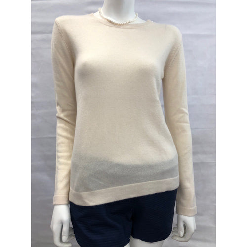 Cortland Park Molly Pearl Button Sweater Snow White