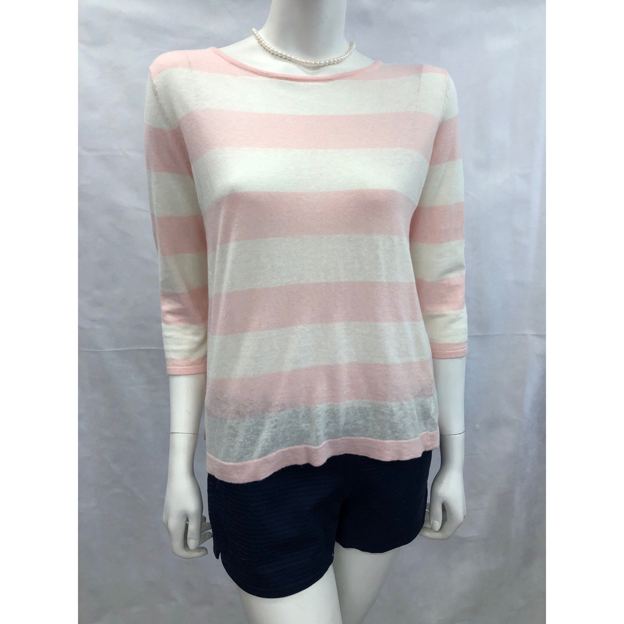 Cortland Park Taylor Striped Top Pink/White