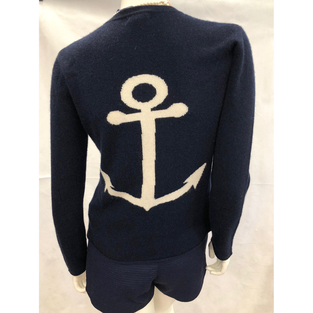 Load image into Gallery viewer, Cortland Park Anchor Crew Sweater Navy/Snow