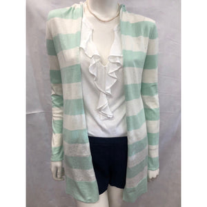 Cortland Park Hooded Cardigan Ocean/White Striped