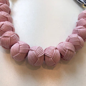 Load image into Gallery viewer, Rope Pom Necklace Light Pink